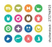 animals  pets icons universal... | Shutterstock .eps vector #272746925