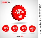 3d price tags discount  15   20 ... | Shutterstock .eps vector #272757938