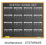 hand drawing line icons. vector ... | Shutterstock .eps vector #272769635