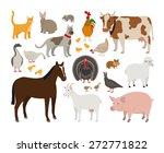 set of farm animals | Shutterstock .eps vector #272771822