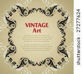 vector vintage template frame...   Shutterstock .eps vector #27277624
