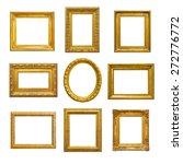 set of golden vintage frame on... | Shutterstock . vector #272776772