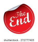 red vector sticker the end   Shutterstock .eps vector #272777405