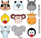 cartoon animals greeting... | Shutterstock .eps vector #27278038