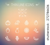 food and drink thin line icon... | Shutterstock .eps vector #272786636