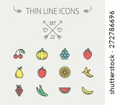 food and drink thin line icon... | Shutterstock .eps vector #272786696