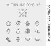 food and drink thin line icon... | Shutterstock .eps vector #272786702
