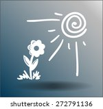 flower under sun beams | Shutterstock .eps vector #272791136