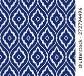 seamless porcelain indigo blue... | Shutterstock .eps vector #272794496