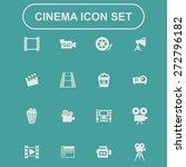 cinema icon set   Shutterstock .eps vector #272796182