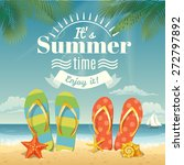 vector summer background with... | Shutterstock .eps vector #272797892