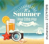 vector summer background with... | Shutterstock .eps vector #272797898