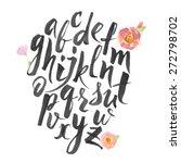 hand drawn alphabet written... | Shutterstock .eps vector #272798702