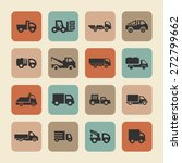 truck icon set | Shutterstock .eps vector #272799662