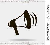 loud hailer symbol   Shutterstock .eps vector #272800202