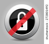 gray chrome button with no open ... | Shutterstock .eps vector #272801492