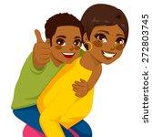 beautiful african american... | Shutterstock .eps vector #272803745