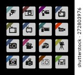 video icon set | Shutterstock .eps vector #272803976