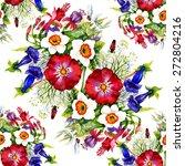 garden watercolor floral... | Shutterstock .eps vector #272804216