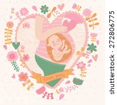 pregnancy concept card in... | Shutterstock .eps vector #272806775