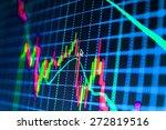stock graph chart at exchange...   Shutterstock . vector #272819516
