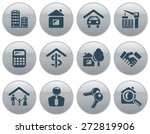 real estate button set | Shutterstock .eps vector #272819906