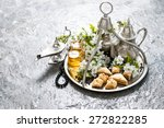 tea pot and glasses ...   Shutterstock . vector #272822285