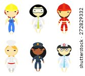 flat women professions set | Shutterstock .eps vector #272829332