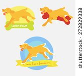 set of three vector logos with... | Shutterstock .eps vector #272829338