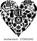 vegetable heart | Shutterstock .eps vector #272831042