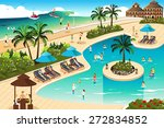 a vector illustration of scene... | Shutterstock .eps vector #272834852