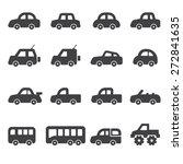 Stock vector car icon set 272841635