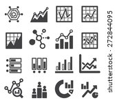 analytics icon set | Shutterstock .eps vector #272844095