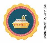 transportation ferry flat icon... | Shutterstock .eps vector #272844758