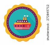 transportation ferry flat icon... | Shutterstock .eps vector #272845712