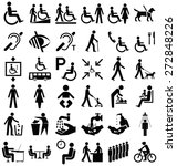 black and white disability and... | Shutterstock . vector #272848226