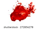 blood smear droplets  stains ... | Shutterstock . vector #272856278