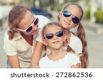 mother and two daughters... | Shutterstock . vector #272862536