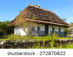 Old Farmhouse With A Thatched...
