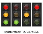 traffic light vector... | Shutterstock .eps vector #272876066