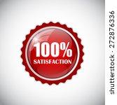 100   satisfaction golden label ... | Shutterstock .eps vector #272876336