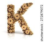 alphabet k formed by metallic...   Shutterstock . vector #272879072