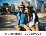 affectionate couple with... | Shutterstock . vector #272889026