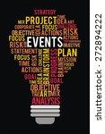 events word in lightbulb shape... | Shutterstock . vector #272894222