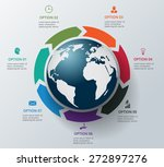 vector circle elements for... | Shutterstock .eps vector #272897276
