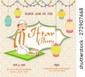 islamic holy month of prayers ...   Shutterstock .eps vector #272907668