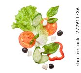 Salad Isolated In White   Red...