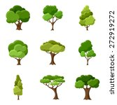 Set Of Abstract Stylized Trees...