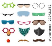 funny cartoon accessory set  ... | Shutterstock .eps vector #272921552
