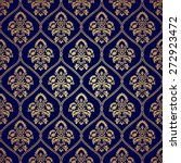 luxury style gold and blue... | Shutterstock .eps vector #272923472
